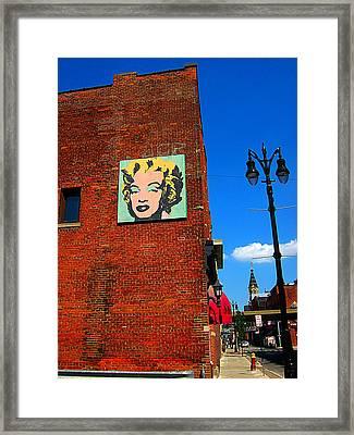 Marilyn Monroe In Detroit Framed Print by Guy Ricketts
