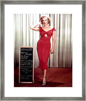 Marilyn Monroe In Gentlemen Prefer Blondes Framed Print by Georgia Fowler