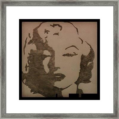 Marilyn Monroe Framed Print by Kiran Kumar
