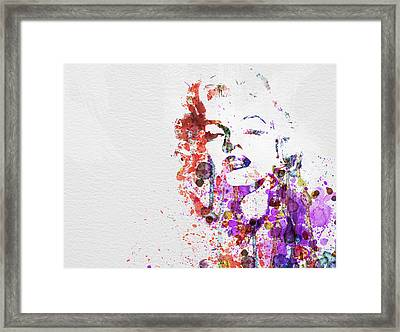 Marilyn Monroe Framed Print by Naxart Studio