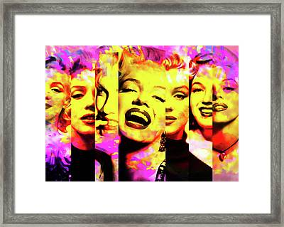 Marilyn Monroe Portrait 3 - By Diana Van Framed Print