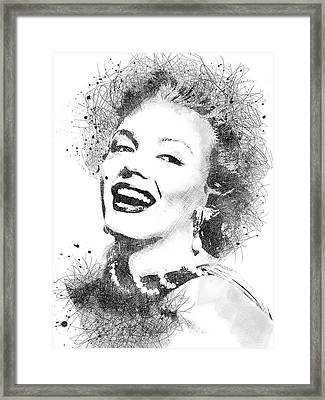 Marilyn Monroe Scribbles Portrait Framed Print