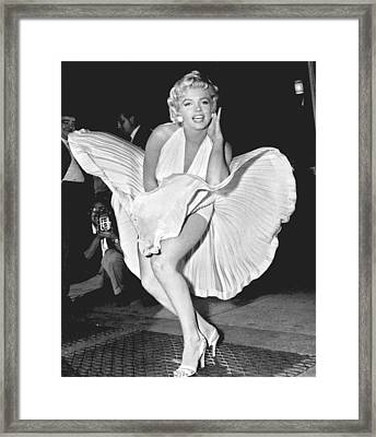 Marilyn Monroe - Seven Year Itch Framed Print by Georgia Fowler