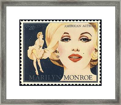 Marilyn Monroe Stamp Framed Print