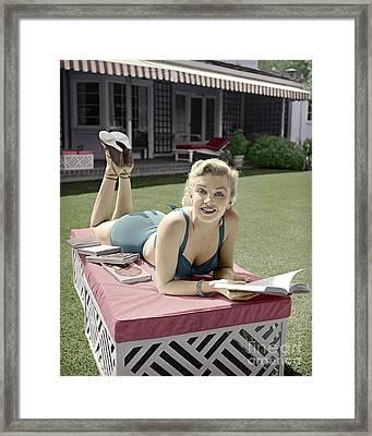 Marilyn Monroe Summer Reading Framed Print