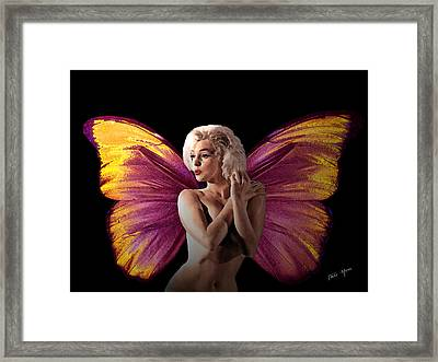 Marilyn Monroe The Fairy Framed Print by Tray Mead