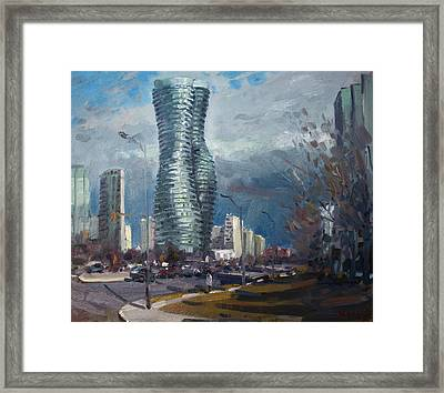Marilyn Monroe Towers Mississauga Framed Print by Ylli Haruni