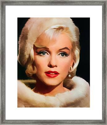 Marilyn Monroe Framed Print by Vincent Monozlay