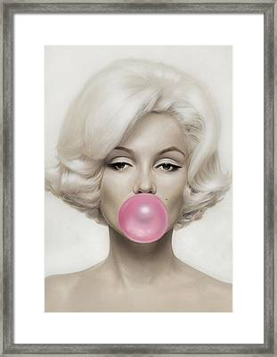 Marilyn Monroe Framed Print by Vitor Costa