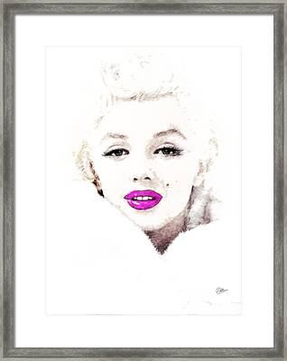 Marilyn Monroe Portrait Framed Print by Quim Abella