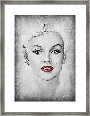 Marilyn Movie Star Edit Framed Print