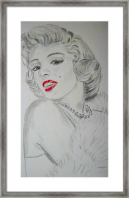 Marilyn Munroe Framed Print by Ger Ryan