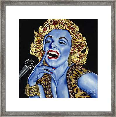 Marilyn Framed Print by Nannette Harris