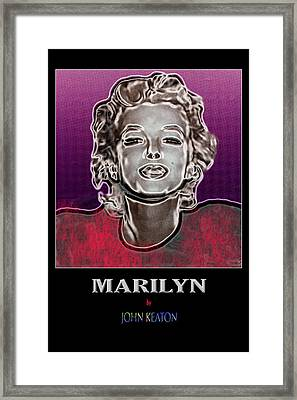 Marilyn Poster Framed Print by John Keaton