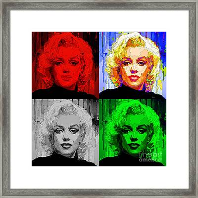 Marilyn Monroe - Quad. Pop Art Framed Print