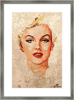 Marilyn Seductive Mix Framed Print