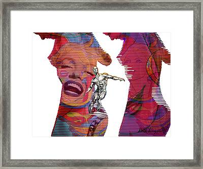 Marilyn Superwoman Silver Surfer Framed Print