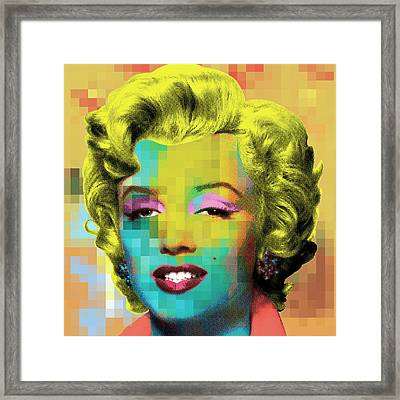 Marilyn With Pattern Framed Print
