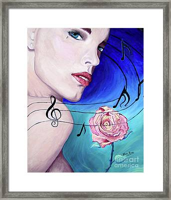 Marilyns Music In The Wind Framed Print