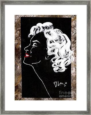 Marilyn's Spotlight Framed Print