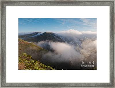 Marin Headlands Fog Rising - Sausalito Marin County California Framed Print