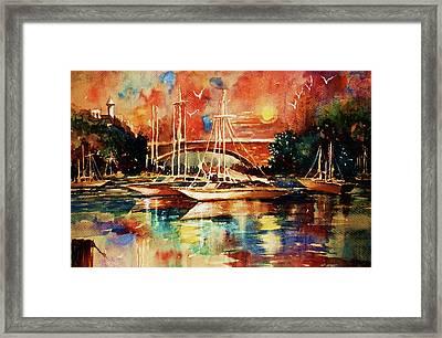 Marina Framed Print by Al Brown
