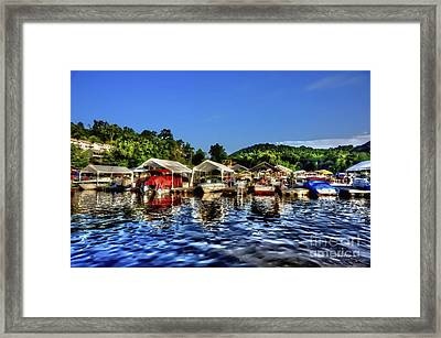 Marina At Cheat Lake Clear Day Framed Print by Dan Friend
