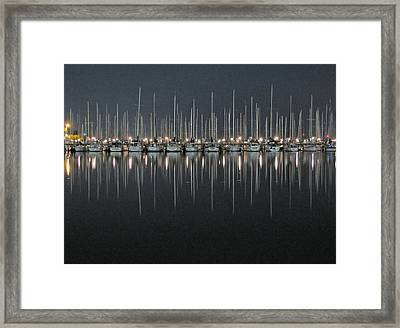 Framed Print featuring the photograph Marina At Night by Farol Tomson
