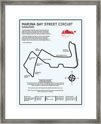 Marina Bay Circuit Framed Print by Mark Rogan