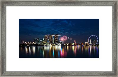 Marina Bay In Panorama Framed Print