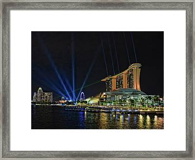 Marina Bay Sands At Night Framed Print by Paul W Sharpe Aka Wizard of Wonders