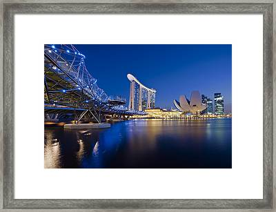 Marina Bay Sands Framed Print