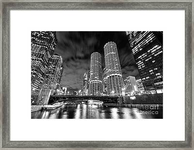 Marina City Chicago Framed Print by Jeff Lewis
