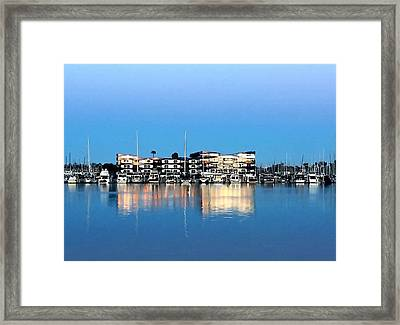 Marina Del Rey Reflections Framed Print by Art Block Collections