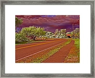 Marina Drive Holmes Beach Framed Print by Rolf Bertram