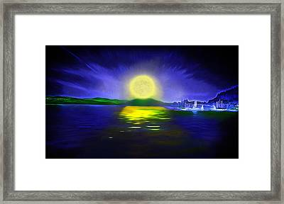 Marina Moonrise Framed Print by Steve Ohlsen