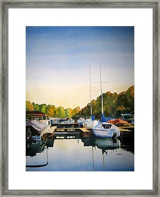 Marina Morning Framed Print