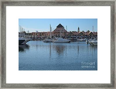 Marina Of Vilamoura Scene Framed Print by Angelo DeVal