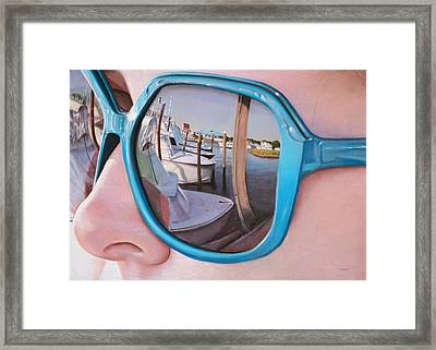 Marina Reflection Framed Print