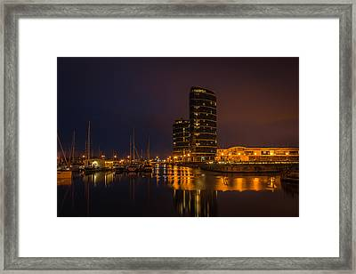 Framed Print featuring the photograph Marina by Ryan Photography