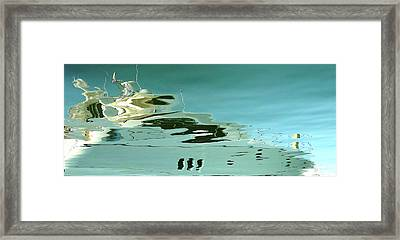 Marina Series Ghostship Framed Print by Gail Butters Cohen