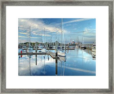 Framed Print featuring the photograph Marina Sunrise by Farol Tomson