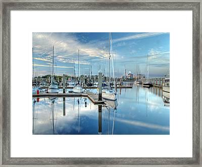 Marina Sunrise Framed Print by Farol Tomson