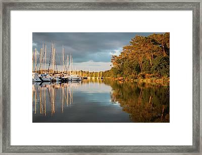 Marina Sunset 10 Framed Print