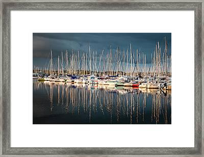 Marina Sunset 4 Framed Print