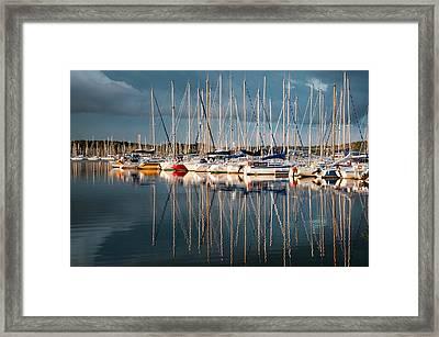 Marina Sunset 7 Framed Print