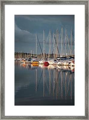 Marina Sunset 8 Framed Print