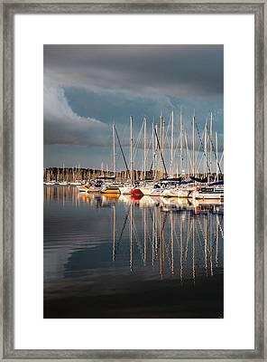 Marina Sunset 9 Framed Print