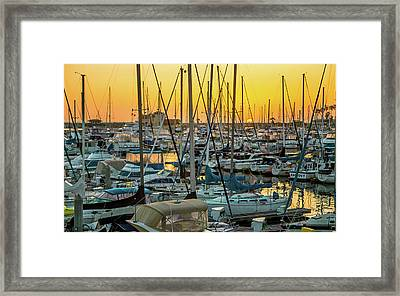 Framed Print featuring the photograph Marina Sunset by April Reppucci