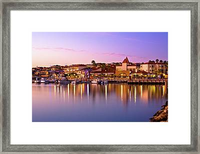 Marina Sunset, Mindarie Framed Print